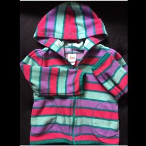 Striped Fleece Hoodie 24m